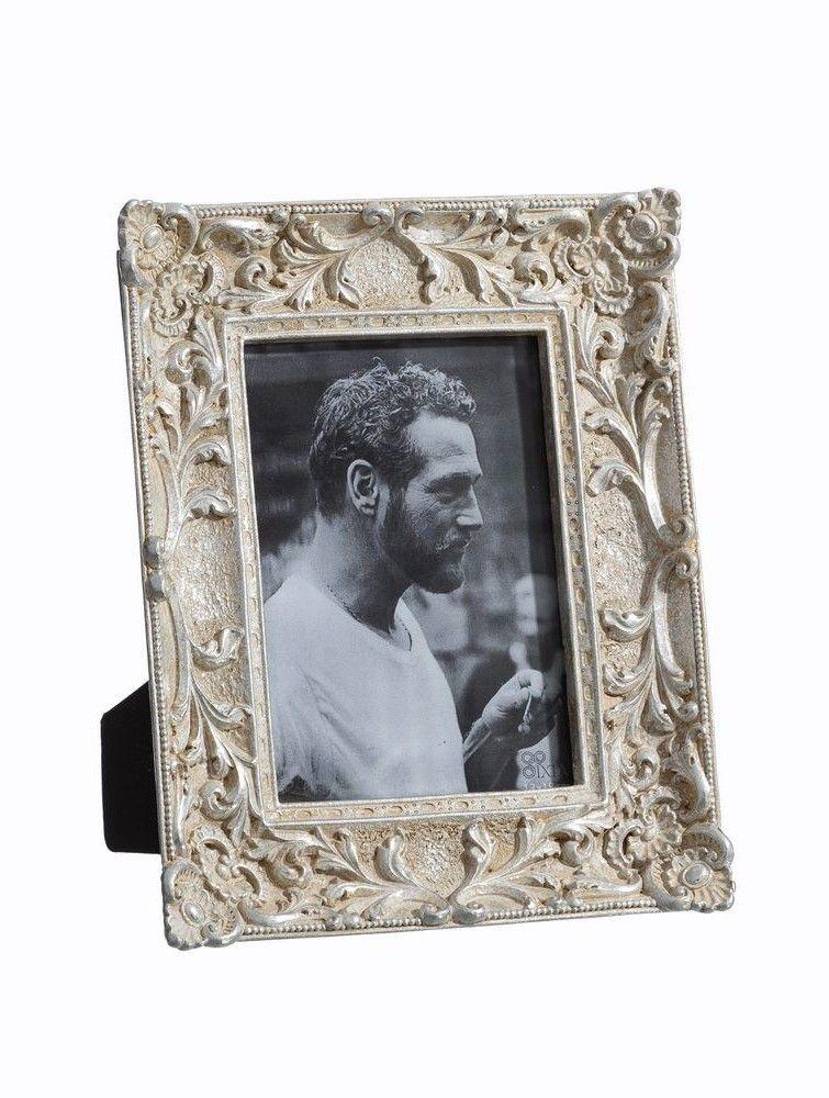 Marco de fotos crema y plata. 13x18 - Pope Complementos