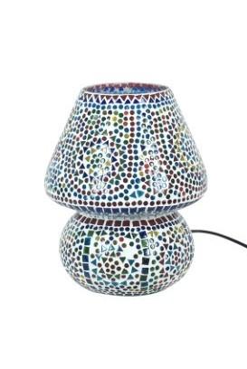 Lámpara mosaico con cristales multicolor