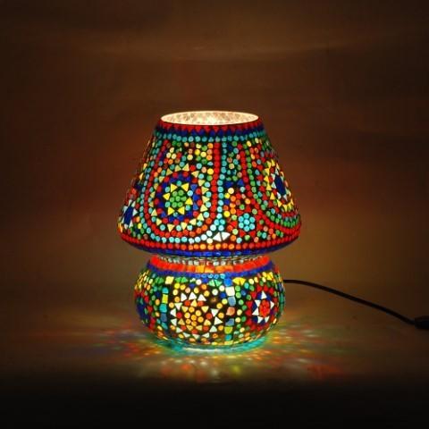 Lámpara mosaico con cristales multicolor 2