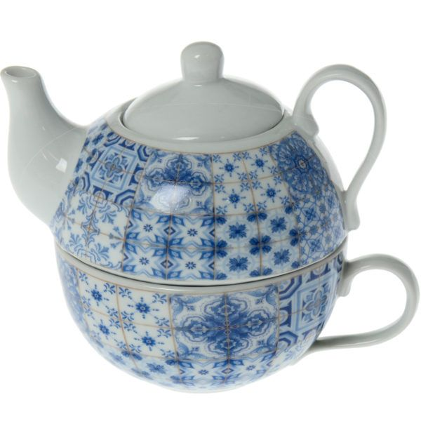 Set tetera taza cerámica