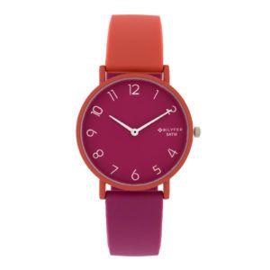 Reloj sumergible colores combinados. Coral-malva