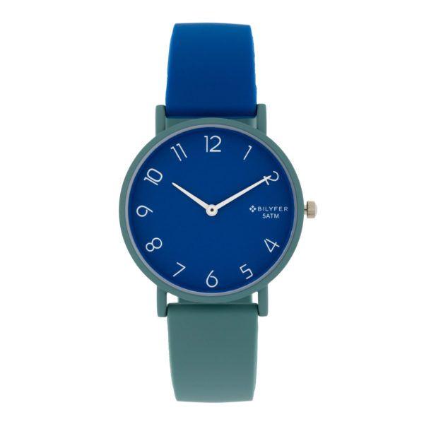 Reloj sumergible colores combinados. Azules