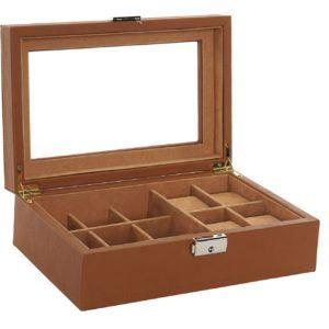 Caja joyero departamentos cristal