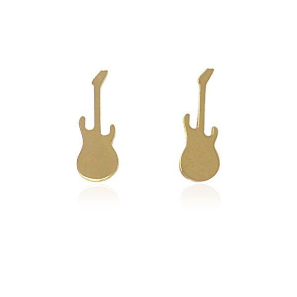 Pendientes de guitarras eléctricas en acero inoxidable. También disponibles en plateado