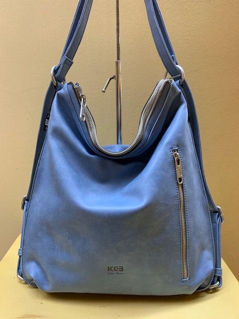Bolso mochila plano kcb. Azul celeste