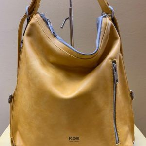 Bolso mochila plana Kcb. Amarillo