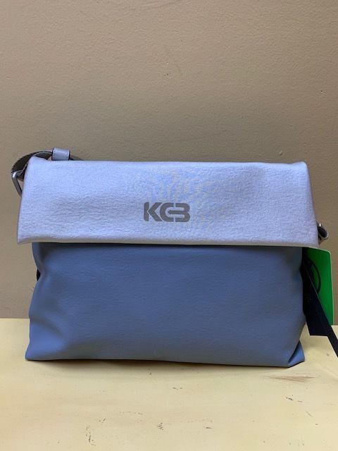 Bolso cruzar KCB bicolor con plata. Azul