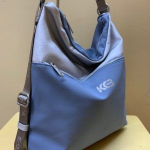 Bolso-mochila Kcb bicolor con plata. Azul