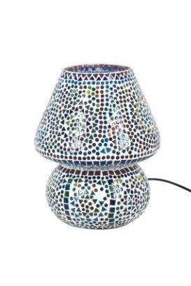 Lámpara grande con mosaico de cristal