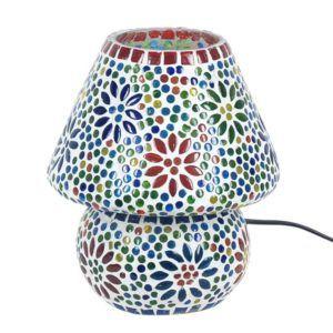 Lámpara mediana con mosaico de cristal