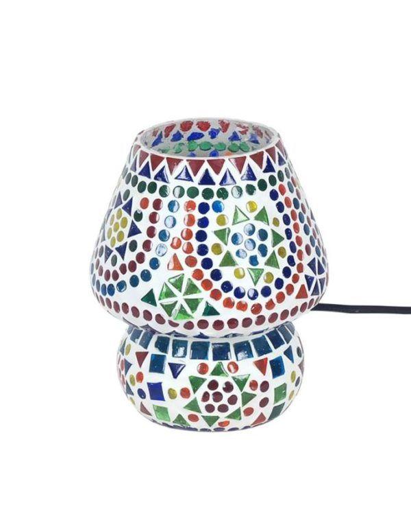 Lámpara pequeña con mosaico de cristal