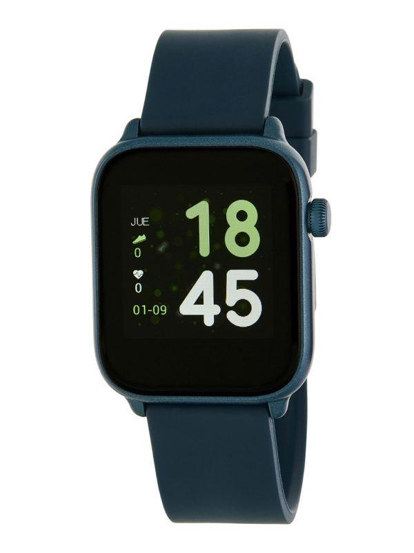 Smart watch unisex de Marea con correa de goma. Azul marino