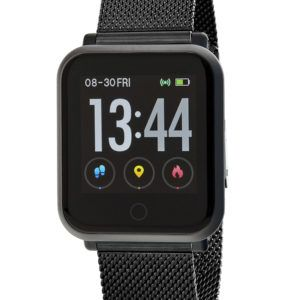 Smart watch con malla milanesa de Marea. Negro