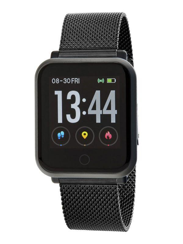 Smart watch con malla milanesa de Marea. Negro