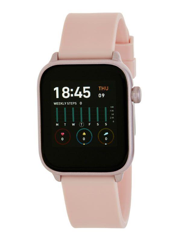 Smart watch unisex de Marea con correa de goma. Rosa