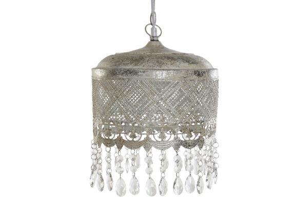 Lámpara de techo celosía metálica con colgantes