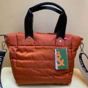 Bolso rectangular en nylon. Fun&Basic. Naranja