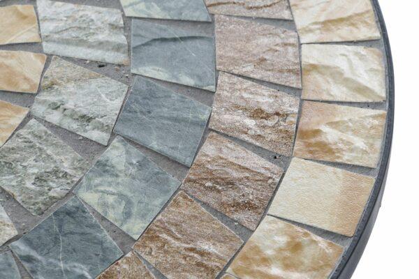 Mesa para exterior de forja y mosaico en piedra. Vista parcia de la Sol cuadros