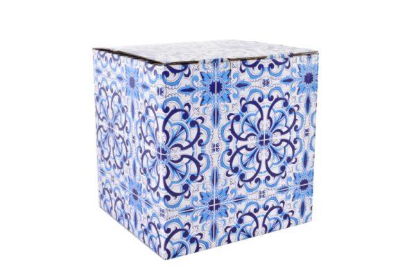 Set tetera cristal de porcelana blanca y dibujos arabes . Caja