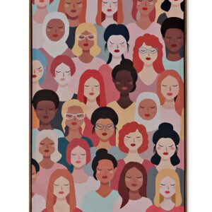 Cuadro lienzo multicolor mujeres del mundo