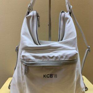 Bolso y mochila tejido denim plastificado de Kcb. Hielo