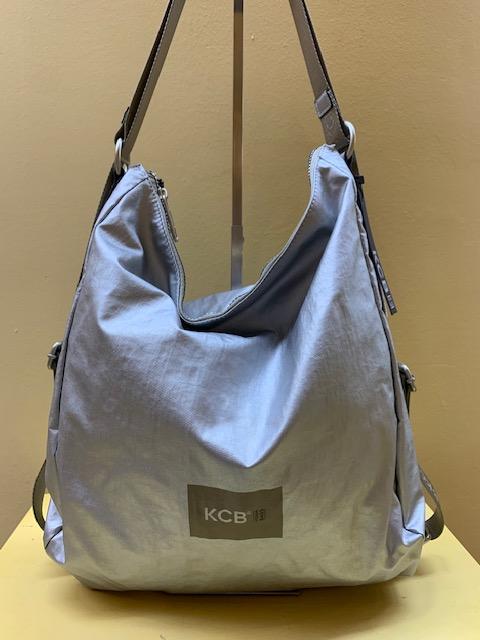 Bolso mochila ultraligero tejido metalizado KCB. PLata