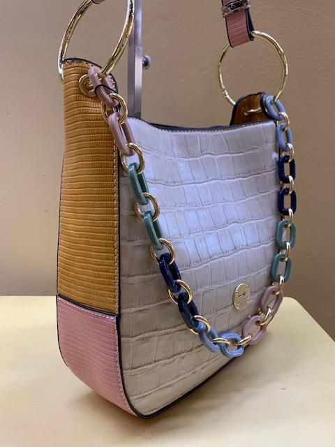Bolso multicolor con asa eslabones de MartinaK