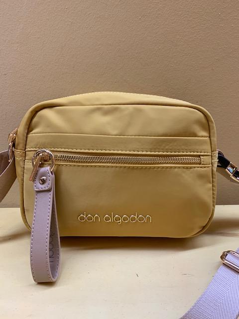 Bolso pequeño contenedor nylon Don Algodón. Amarillo