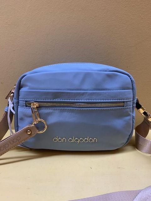 Bolso pequeño contenedor nylon Don Algodón. Azul celeste