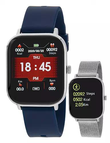 Reloj Marea B58006 bloototh talk y multifunción. Plata-azul
