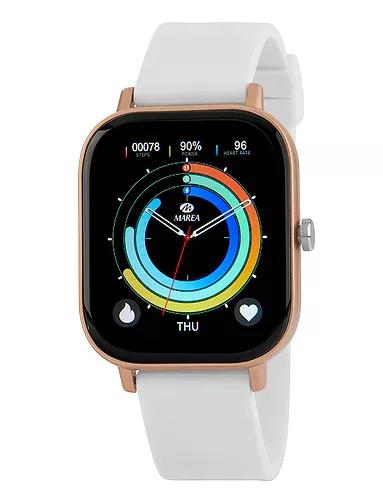 Reloj Marea B58007 multifunción personaliza pantalla. Blanco
