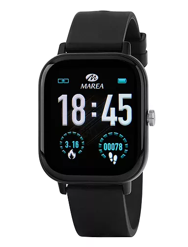 Reloj Marea B58007 multifunción personaliza pantalla. Negro