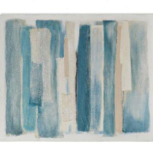 Cuadro lienzo abstracto con rayas azules