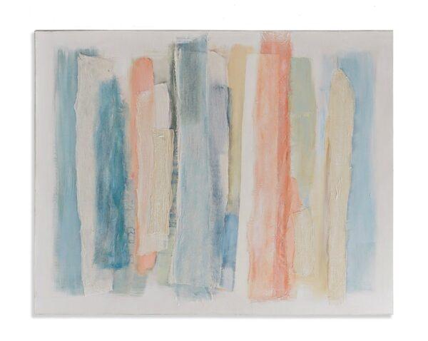 Cuadro lienzo abstracto con rayas multicolor