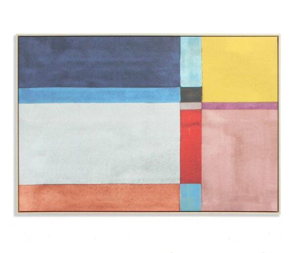 Lienzo con formas rectangulares multicolor