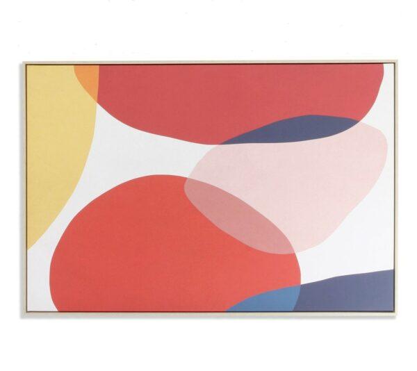 Lienzo con formas redondeadas multicolor