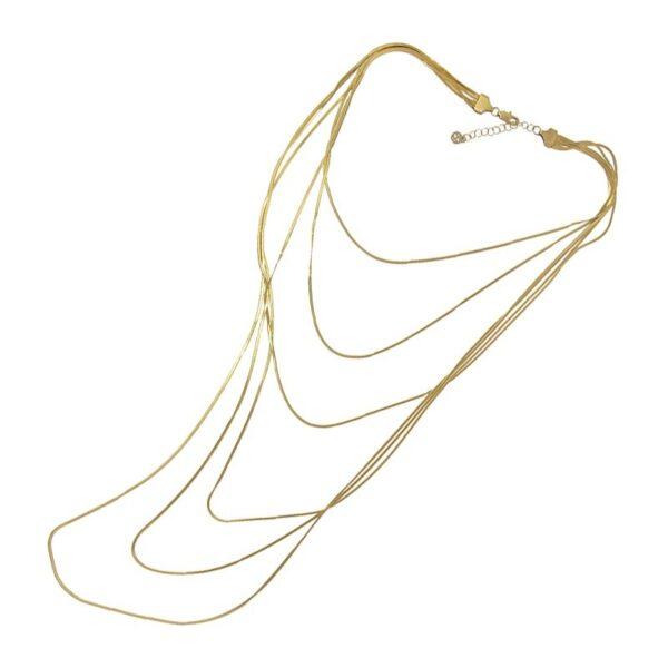 Collar snake largo acero seis capas de Anartxy